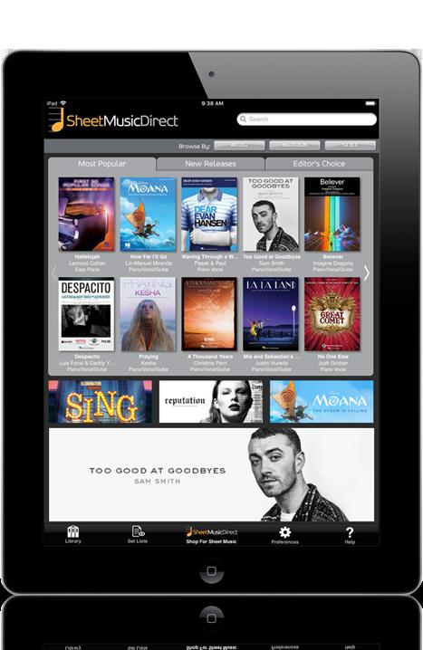 Digital sheet music iPad app preview